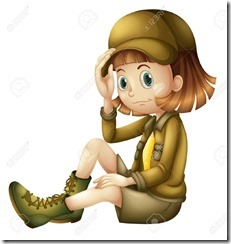 16564285-illustration-of-a-girl-on-a-white-background-Stock-Vector-scout-girl-adventure
